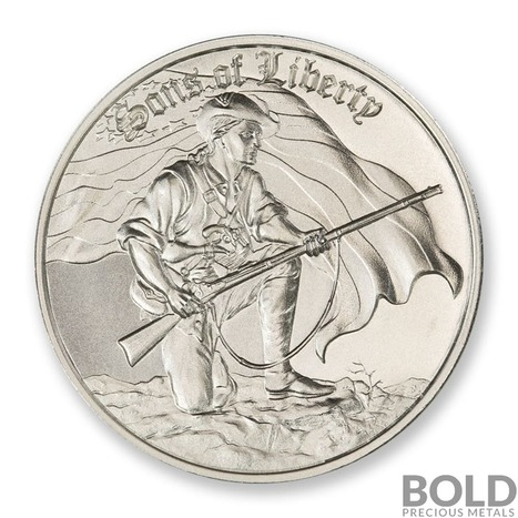 1-2 oz .999 Silver Round BU Sons of Liberty Ultra High Relief