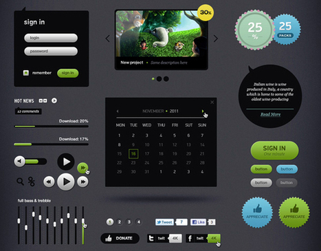 Best Free PSDs web design elements and files for Designers   Graphic Design   Scoop.it