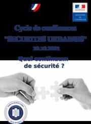Conférence de la Chaire Sécurité Globale « sécurité urbaines » le 19 octobre ! - École Nationale Supérieure de la Police ...