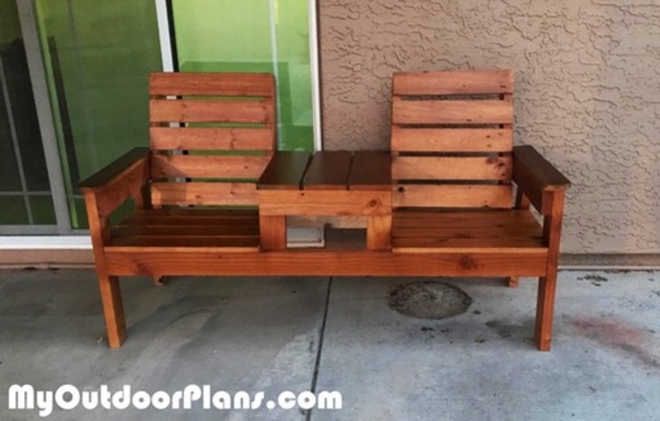 Superb Double Chair Bench In Garden Plans Scoop It Caraccident5 Cool Chair Designs And Ideas Caraccident5Info