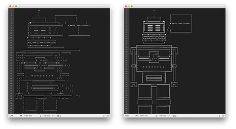 ASCII Art & Unicode — Helftone | ASCII Art | Scoop.it