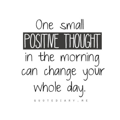 One small positive thought in the morning can change your whole day.   Good News For A Change   Scoop.it