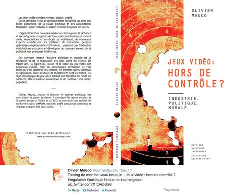 Jeux vidéo: HORS de CONTRÔLE? - Olivier Mauco - éditions Questions Théoriques | Machines Pensantes | Scoop.it