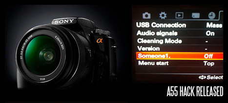 Out Now: Sony Alpha A55 Firmware Hack | Gear in Motion | Scoop.it