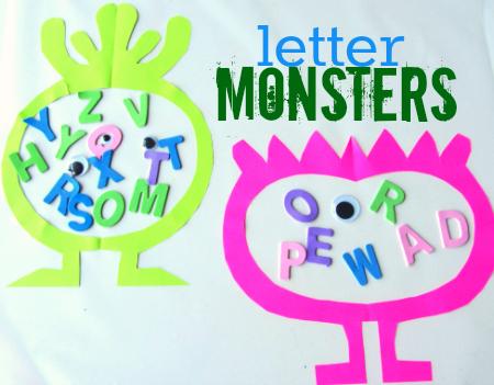 Letter Monster Craft For Kids | Literacia no Jardim de Infância | Scoop.it