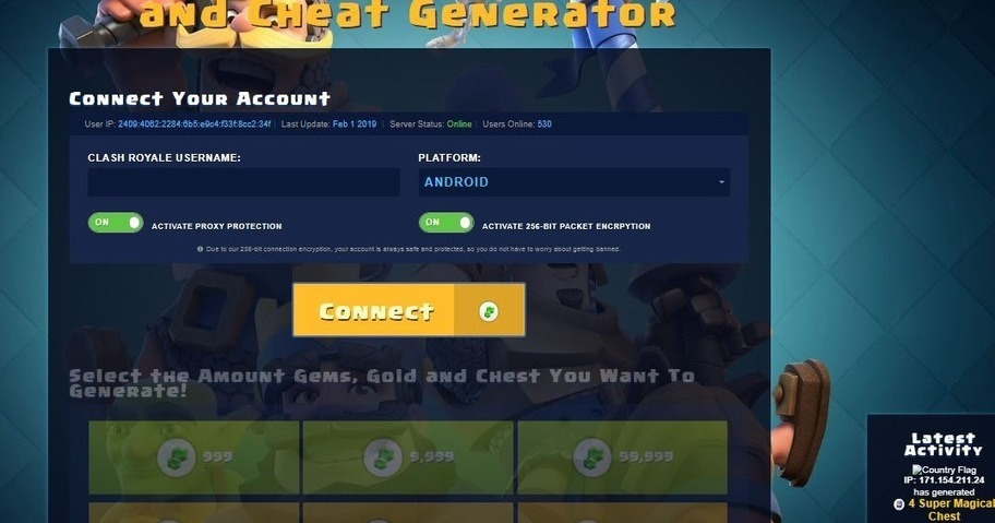 Clash Royale 2019 CPA Marketing Landing Page Fr