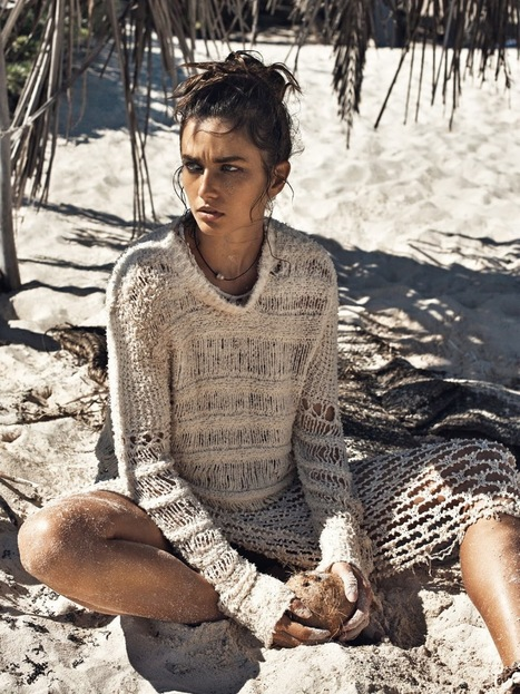 [editorial] 'à la plage' | Andreea Diaconu by Lachlan Bailey for Vogue Paris May 2015 | Fashion & more... | Scoop.it