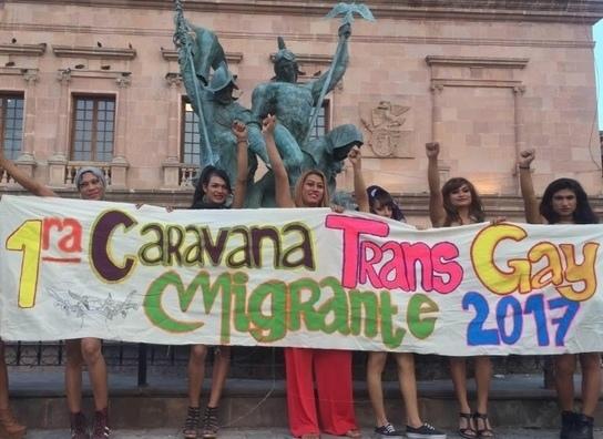 The first trans-gay migrant caravan arrives at US border, seeking asylum