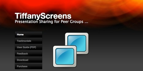 TiffanyScreens - a Presentation Tool for Peer Sharing   E-Capability   Scoop.it