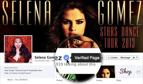 Facebook launches verified pages and profiles for celebs and brands | Social Media Tips | Scoop.it