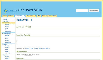 middle school e portfolio google sites template