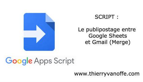 Scripts : le publipostage entre Google Sheets e