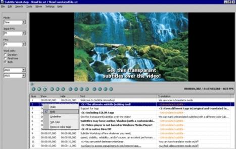 Subtitle Workshop, programa para crear y editar subtítulos | Las TIC y la Educación | Scoop.it