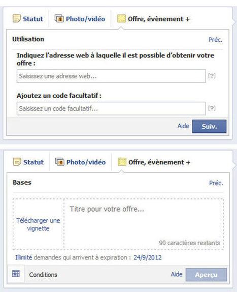 Facebook Offers : le couponing Facebook ouvert à tous | La communication digitale, Modedemploi | Scoop.it