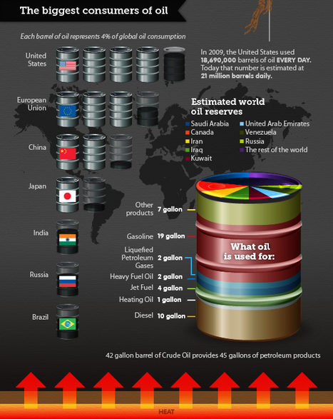 Oil, the modern world's lifeblood [infographic] | green infographics | Scoop.it