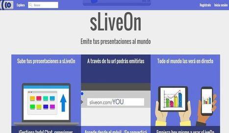 sLiveOn: La nueva plataforma de streaming para presentaciones | Herramientas TIC para el aula | Scoop.it