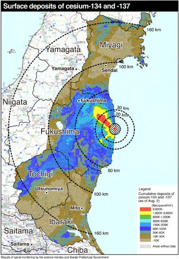 Mapping Participating Fukushima Radiation Maps Scoopit - Japan map radiation