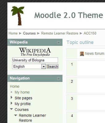 The Wikipedia Block for searching right from Moodle | mOOdle_ation[s] | Scoop.it