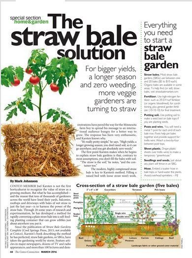 Wonderful The Costco Connection   March 2016 | Straw Bale Gardening | Scoop.it Good Ideas
