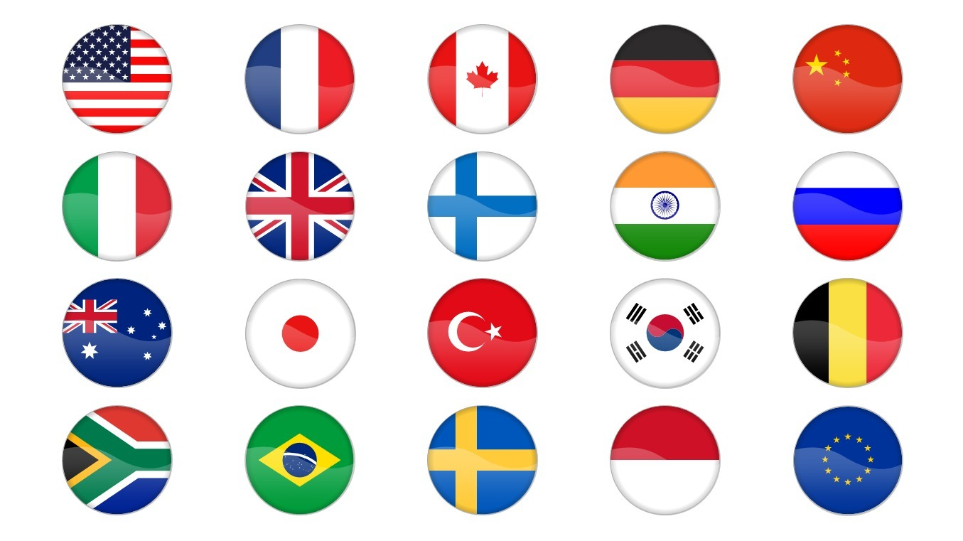 Country Flag Icons Powerpoint Templates Sc