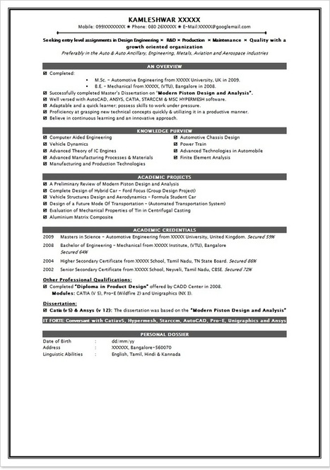 Fresher Resume In Job Resume Samples Scoop It