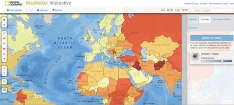 Mapmaker, une carte interactive et des logiciel