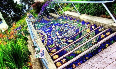 17 escaliers magnifiquement décorés dont vous rêverez de gravir les marches   Innovation dans l'Immobilier, le BTP, la Ville, le Cadre de vie, l'Environnement...   Scoop.it