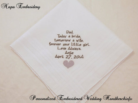 Personalized Embroidered Wedding Handkerchiefs Gifts by Napa ...