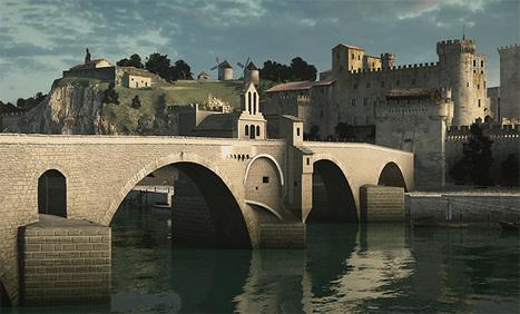 À quoi ressemblait le pont d'Avignon au Moyen Âge ? - CNRS   Humanidades digitales   Scoop.it