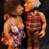 marionnettes à tringle Tatie Lou et Anatole