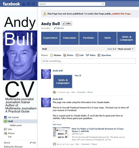 How to build your CV on Facebook | Multimedia Journalism | digital journalism tools and topics | Scoop.it