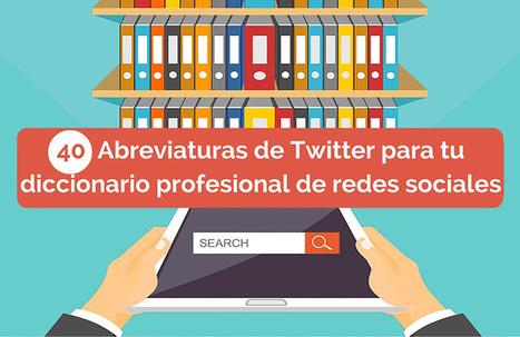 40 abreviaturas de Twitter para tu diccionario profesional de redes sociales [Infografía] | Agrobrokercommunitymanager | Scoop.it