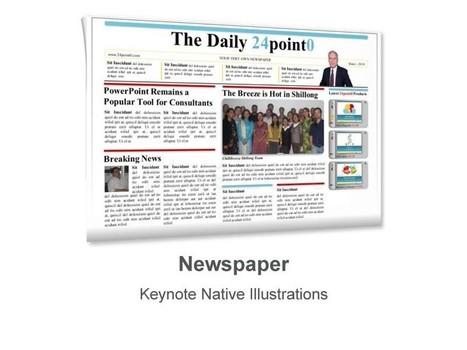 newspaper template deliver your keynote prese