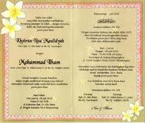Contoh Kata Kata Undangan Pernikahan Yang Serin