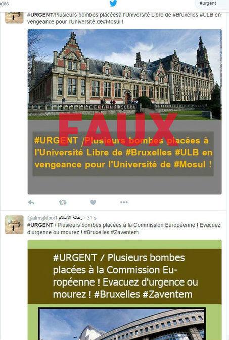 Bruxelles: des comptes djihadistes diffusent de fausses informations pour ajouter à la panique | La curation en communication web | Scoop.it