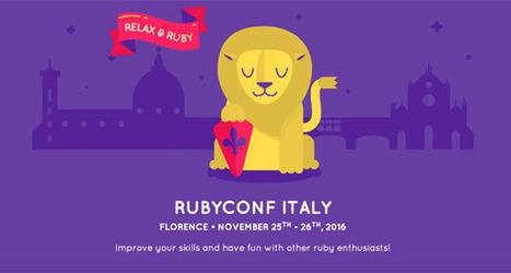 RubyDay 2016: vi aspettiamo a Firenze il 25 e 26 novembre | seeweb | Scoop.it