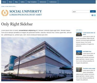 Academica, Plantilla Web Gratis para Universida...