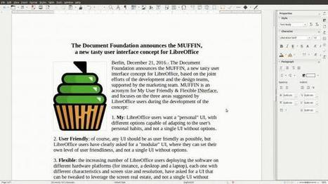LibreOffice 5.3 to Launch with MUFFIN, a User-Friendly and Flexible UI Concept | TDF & LibreOffice | Scoop.it