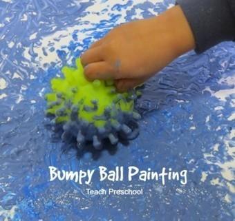 Bumpy ball painting | Teach Preschool | Scoop.it