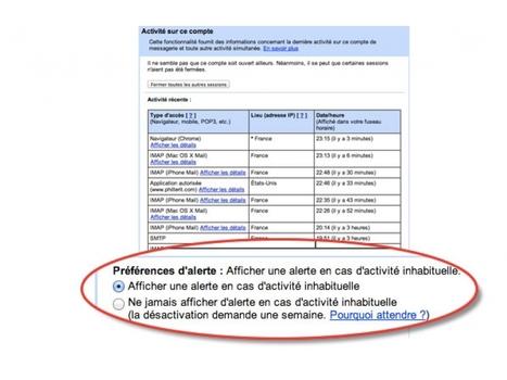 Diffusion : afficher une alerte en cas d'activité suspecte sur Gmail | digitalcuration | Scoop.it