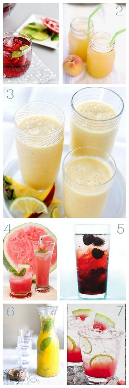 7 Fresh and Delish Summer Fruit Drink Recipes - Epheriell Designs | ♨ Family & Food ♨ | Scoop.it
