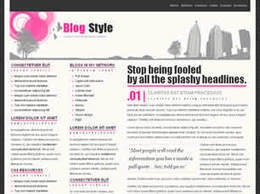 Free Blog Style HTML5 Template - Designsave.com | Web Increase | Scoop.it