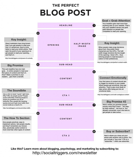 How to Write the Perfect Blog Post [INFOGRAPHIC] | Tech in the language classroom (FSL) | Scoop.it