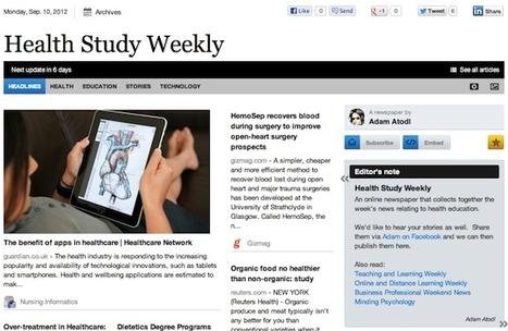 Sept 10 - Health Study Weekly is out | Health Studies Updates | Scoop.it