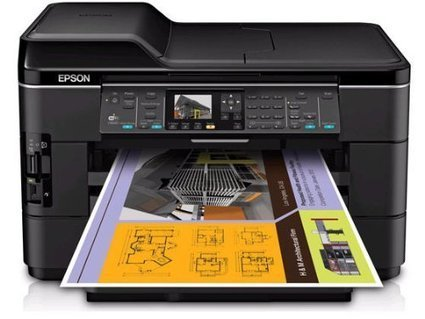 Epson WorkForce WF 7520 Wireless All In One Wide Format Color Inkjet Printer Scanner Copier Fax C11CB58201