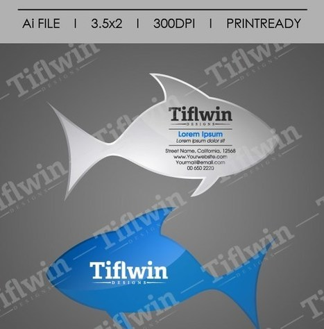 Meil business card tiflwin designs your gra tiflwindesigns fish die cut business card reheart Image collections