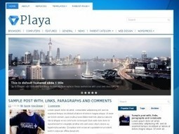 Playa Magazine Blogger Template Free Download by Lupe - HeavenThemes | Blogger themes | Scoop.it