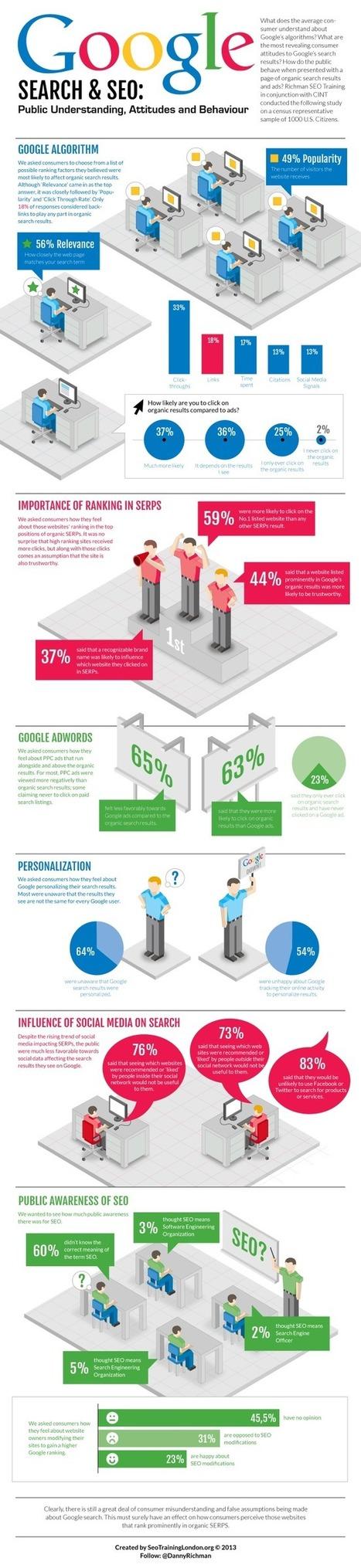 Google Search & SEO Infographic: Public Understanding Attitudes and Behaviour | Social Media e Innovación Tecnológica | Scoop.it