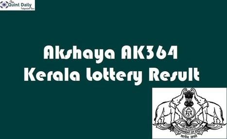 Akshaya AK364 Kerala Lottery Result 3 10 2018 L
