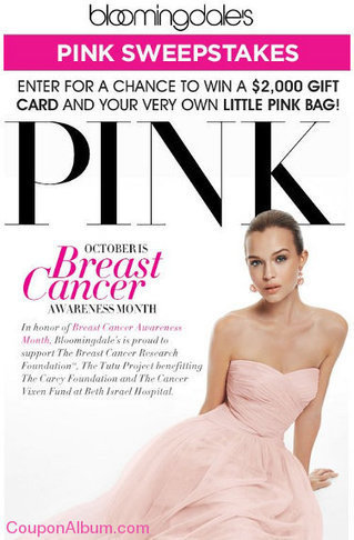 Bloomingdale's Pink Sweepstakes! | Coupons & Deals | Scoop.it